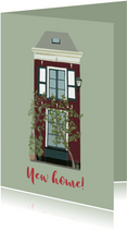 Verhuiskaart groen huis met luiken