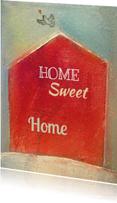 Verhuiskaart huis in rood