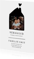 Verhuiskaart met lief huisje en foto