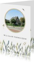 Verhuiskaart pastel takjes met foto
