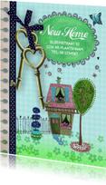 Verhuiskaart Sleutels Huis ruit