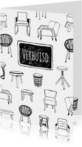 Verhuiskaart trendy meubels