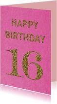 Verjaardag 16 glitter
