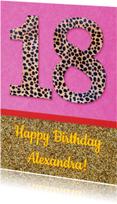 Verjaardag 18 glitter