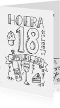 Verjaardag 18 handlettering - TS