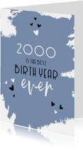 Verjaardag belangrijke nieuwsfeiten in het geboortejaar 2000