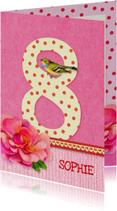 Verjaardag Bloem Meisje 8