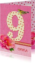 Verjaardag bloem meisje 9