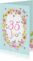 verjaardag bloemenkrans jarig
