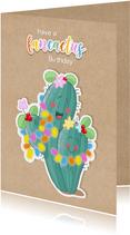 Verjaardag cactus kraft