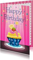 Verjaardag cupcake - tw