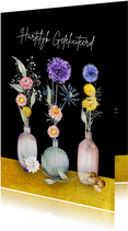 Verjaardag droogbloemenstilleven