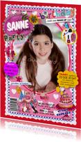 Verjaardag FEEST Tijdschrift Meisje Foto