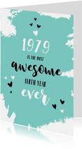 Verjaardag felicitatie geboortejaar 1979 nieuwsfeiten