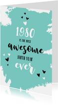 Verjaardag felicitatie geboortejaar 1980 nieuwsfeiten