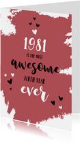 Verjaardag felicitatie geboortejaar 1981 nieuwsfeiten