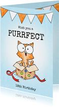 Verjaardag felicitatie kitten - Wish you a purrfect birthday