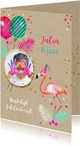 Verjaardag flamingo ballonnen