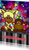 verjaardag giraf aap vrolijk S-H