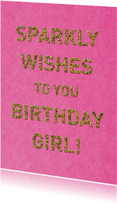 verjaardag glitter roze