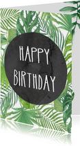 Verjaardag. Happy Birthday botanisch