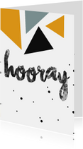 Verjaardag - Hooray - Driehoekjes