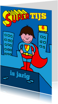 Verjaardag jongen stoer superman