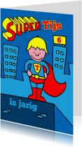 verjaardag jongen superman blond