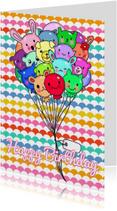 Verjaardag Kawaii Balloons - TbJ