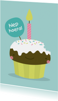 Verjaardag Kawaii Cupcake