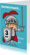 Verjaardagskaarten - verjaardag kinderfeest ridder N