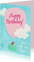 Verjaardag Luchtballon zoet