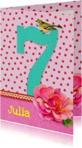 Verjaardag Meisje 7 roze
