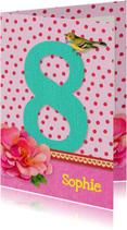 Verjaardag Meisje 8 roze