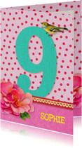Verjaardag Meisje 9 roze