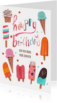 Verjaardag meisje zomer ijs
