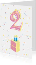 Verjaardagskaarten - Verjaardag met taart