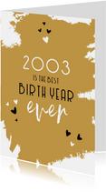 Verjaardag nieuwsfeiten geboortejaar 2003