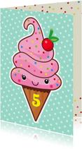 Verjaardag retro ijsje