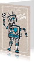Verjaardag robot jongen