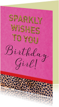 Verjaardag sparkly wishes