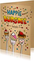 Verjaardag taart vorkjes