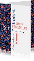 Verjaardag Typografisch met luipaardprint