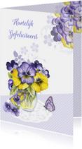 verjaardag viooltjes vaasje
