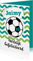 Verjaardag vrolijke voetbalkaart