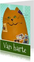 Verjaardagkaart kat papa of opa