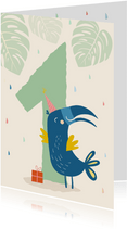 Verjaardagkaart toekan - 1 jaar