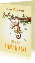 Verjaardagsfelicitatie aapje - Let's go bananas!!