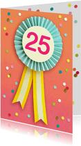 Verjaardagskaart 25 jaar vaantje