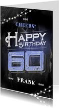 Verjaardagskaart 60 jaar stoer man grunge vintage